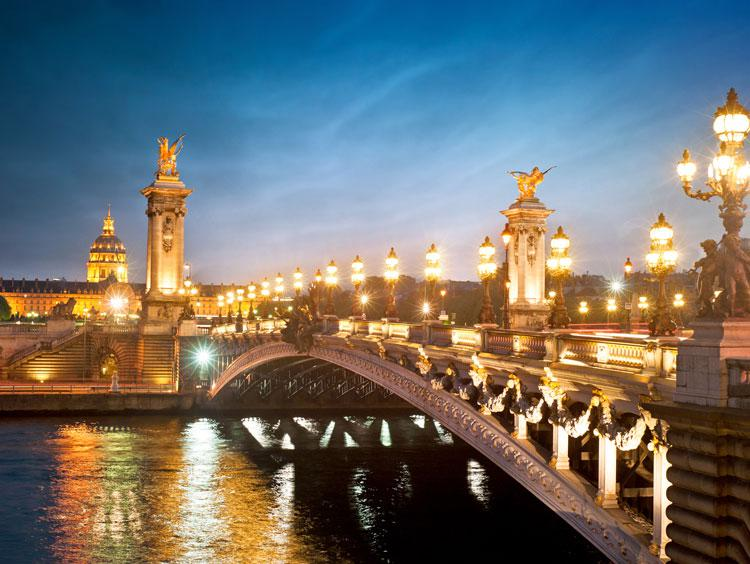 Paris Bridge Night