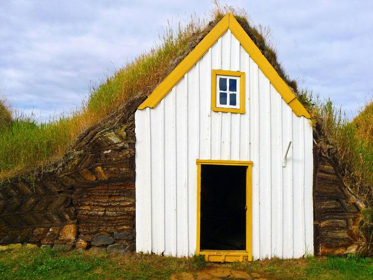 Iceland Traditional Turfed House