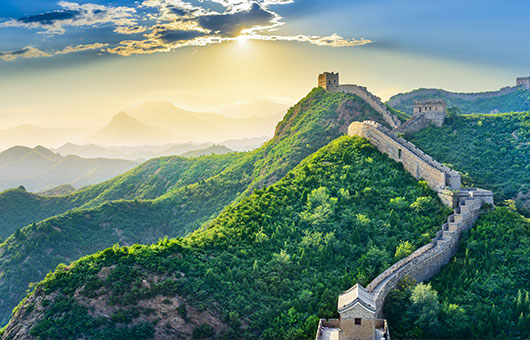 The emblematic Great Wall of China