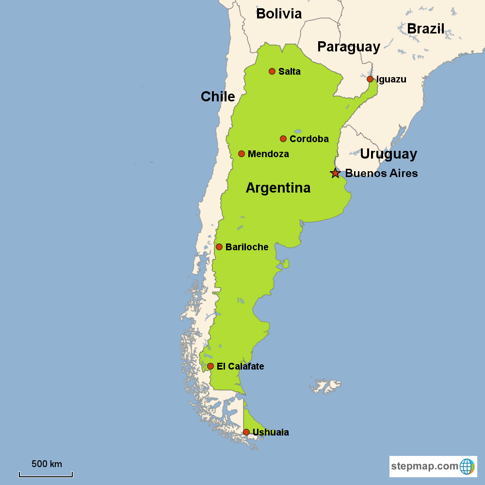Argentina Vacations With Airfare Trip To Argentina From Gotoday - Argentina map cities