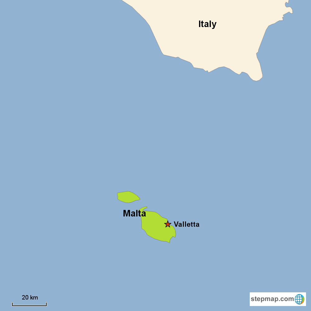 Map of Malta in Europe