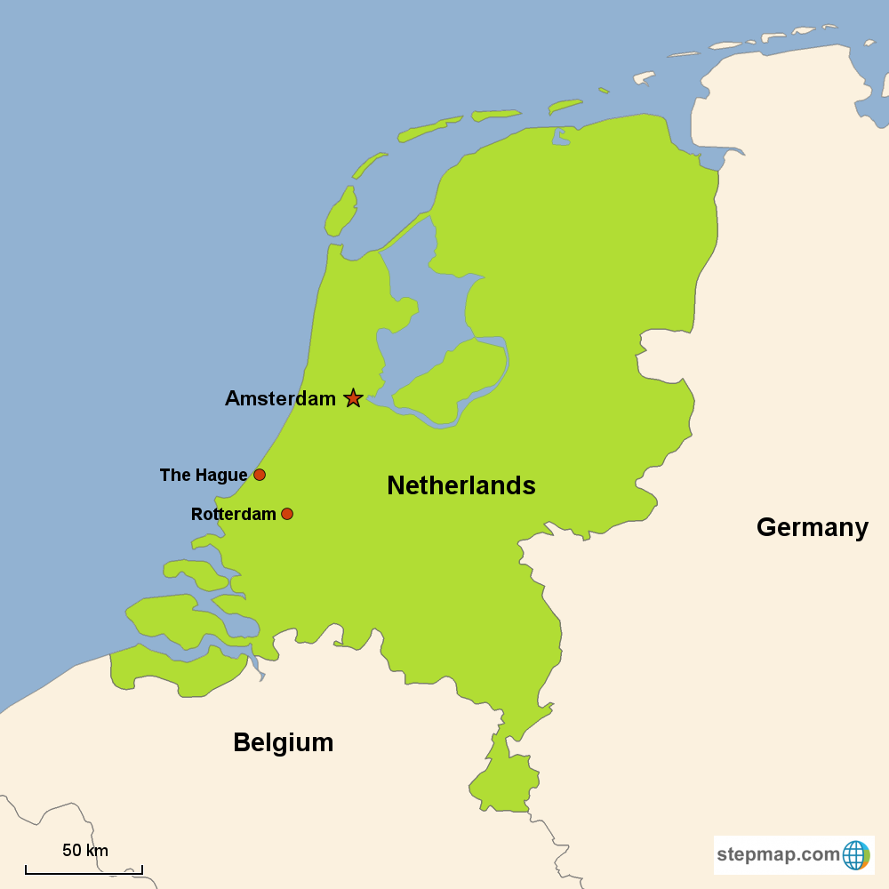 map of cities in holland netherlands image collections
